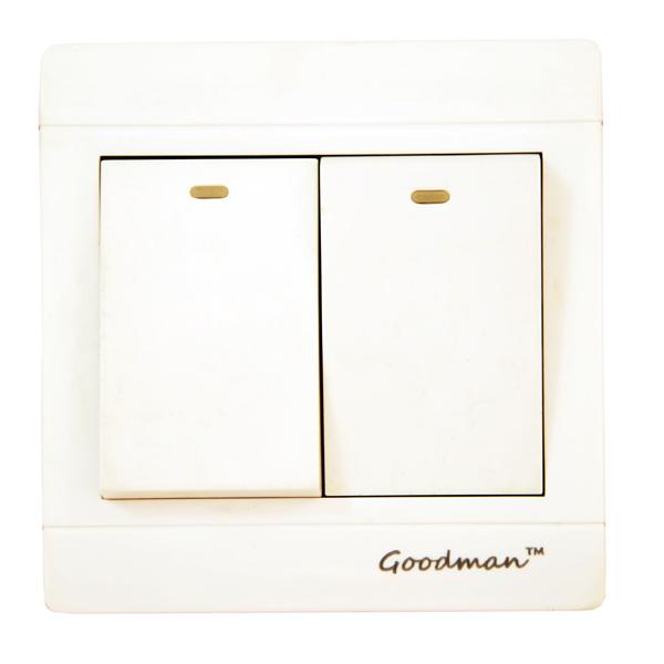 Goodman 2 gang 2 way Switch White