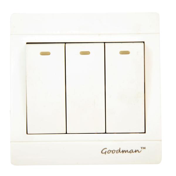 Goodman 3 gang 3 way switch white