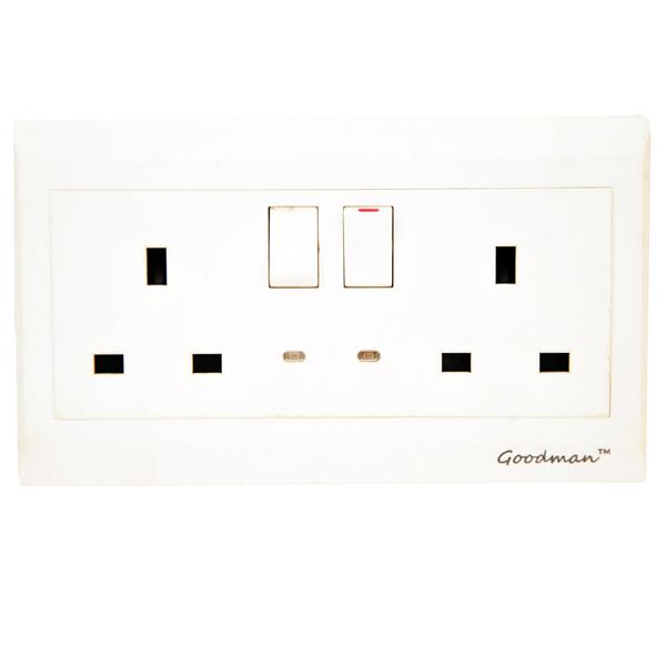 Goodman 13A double switch white