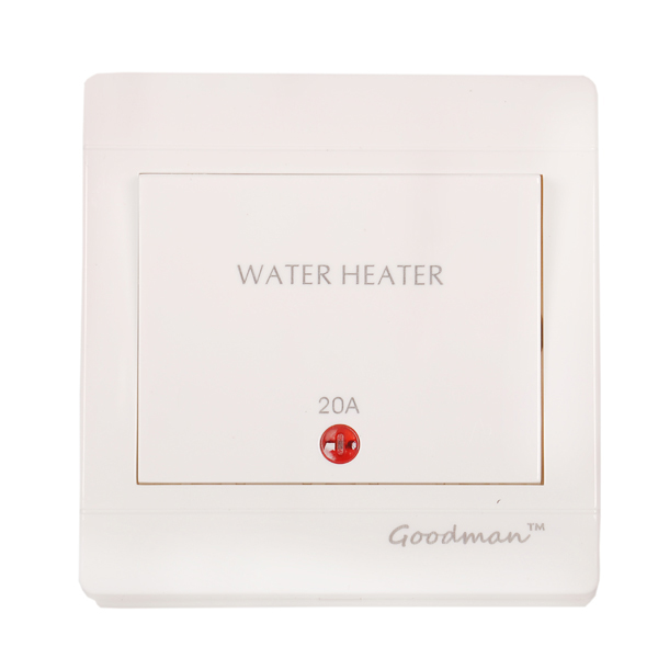 Goodman water heater switch 20A white