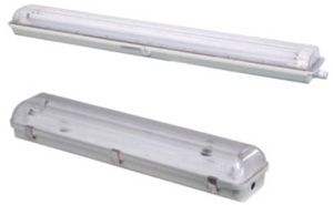 2 feet and 4 feet double and single fluorescent fitting with diffuser